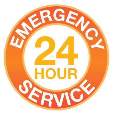 24 Hours a day 7 days a week emergency service